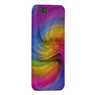 colorful fiber optic frenzy abstract iPhone 5/5S case