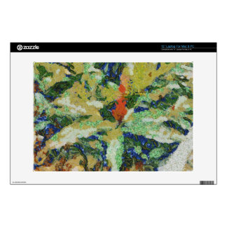 Colorful field destroyed laptop skins