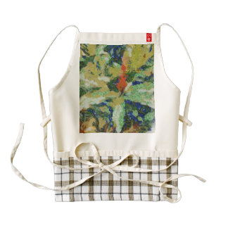 Colorful field destroyed zazzle HEART apron