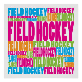 Colorful Field Hockey Poster