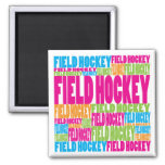 Colorful Field Hockey Refrigerator Magnets