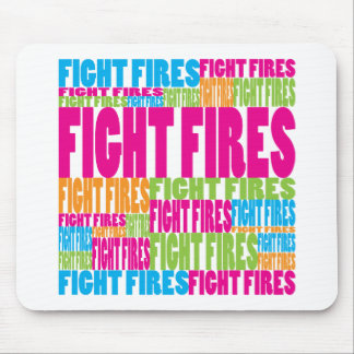 Colorful Fight Fires Mouse Mat