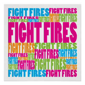 Colorful Fight Fires Poster