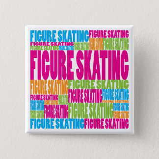 Colorful Figure Skating Button