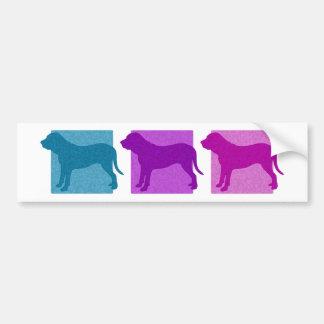 Colorful Fila Brasileiro Silhouettes Bumper Sticker
