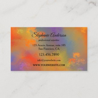 Colorful Fine Art Professional Business Card