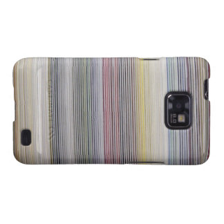 Colorful Fine Stripes Fabric Android Case Galaxy SII Cases