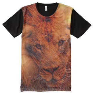 Colorful Fire Lion Fractal Art All-Over-Print T-Shirt