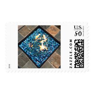 Colorful Firepit Postage Stamp