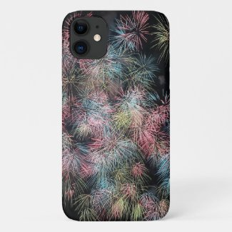 Colorful Firework... iPhone 11 Case