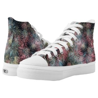 Colorful Firework... High-Top Sneakers
