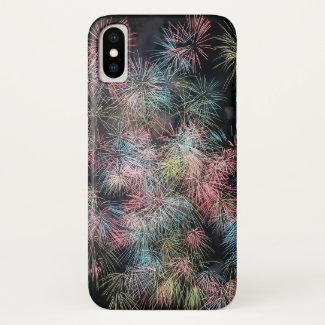 Colorful Firework... iPhone X Case