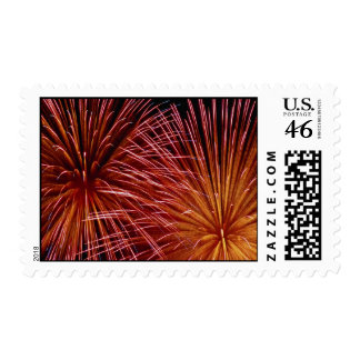 Colorful Fireworks Canada Day Postage Stamps