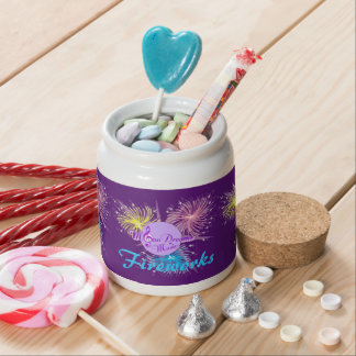 Colorful Fireworks Candy Jar