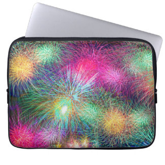 Colorful fireworks computer sleeves