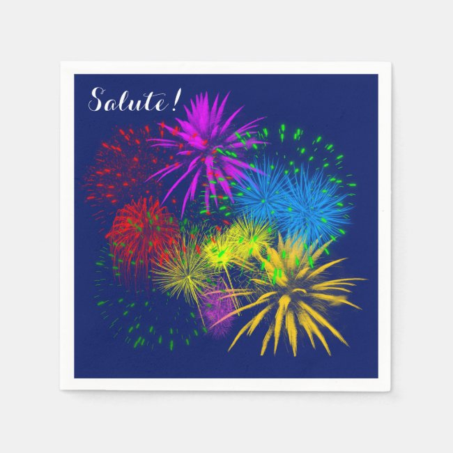 Colorful fireworks funny cheerful