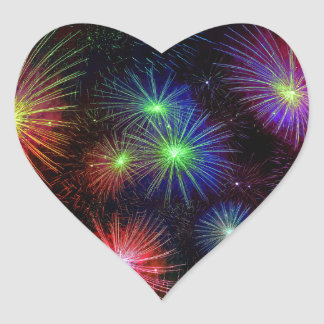 Colorful fireworks illustration stickers