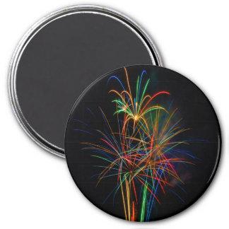 Colorful fireworks magnet