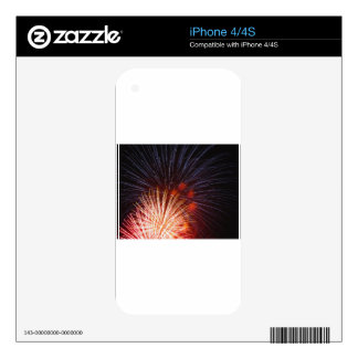 Colorful fireworks of various colors decals for iPhone 4