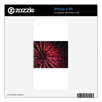 Colorful fireworks of various colors decals for the iPhone 4