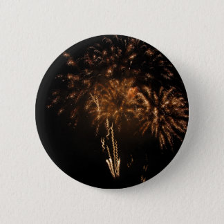 Colorful fireworks of various colors in the night button