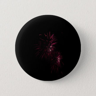 Colorful fireworks of various colors in the night pinback button