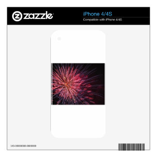 Colorful fireworks of various colors iPhone 4S skin