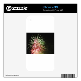 Colorful fireworks of various colors iPhone 4S skins