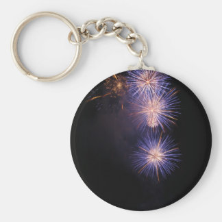 Colorful fireworks of various colors keychain