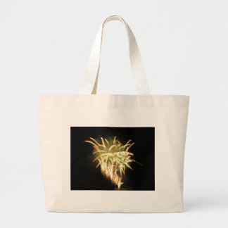 Colorful fireworks of various colors large tote bag