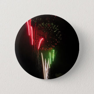 Colorful fireworks of various colors light up the button