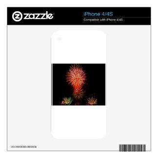 Colorful fireworks of various colors light up the decal for iPhone 4