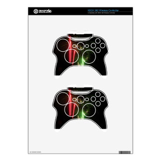 Colorful fireworks of various colors light up the xbox 360 controller decal