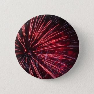 Colorful fireworks of various colors pinback button