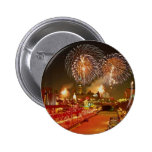 Colorful fireworks on New Year's Eve Pinback Button