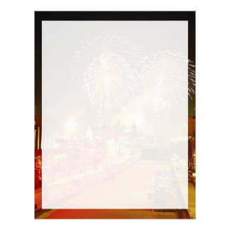 Colorful fireworks on New Year's Eve Letterhead