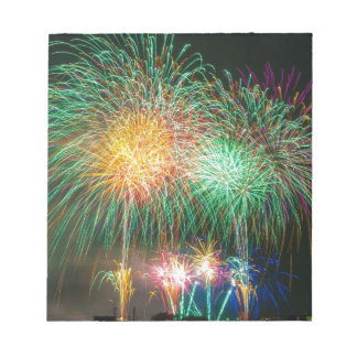 Colorful fireworks scratch pad