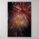 Colorful Fireworks Sparkles Print