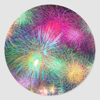 Colorful fireworks stickers