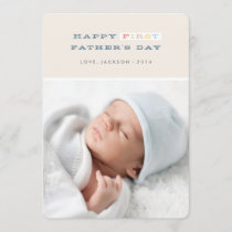 Colorful First Father's Day Card - Navy