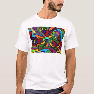 Colorful Fish Abstract Art Design T-Shirt