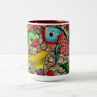 Colorful Fish Design Mug