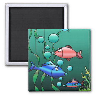 Colorful Fish Family Design Magnet
