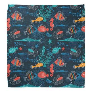 Colorful Fish in Ocean Bandana