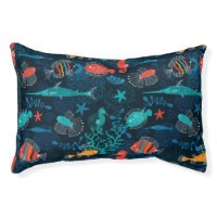 Colorful Fish in Ocean Dog Bed