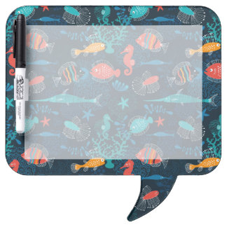 Colorful Fish in Ocean Dry-Erase Whiteboard