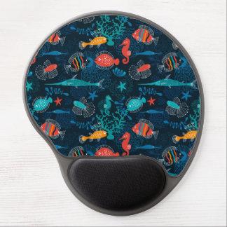 Colorful Fish in Ocean Gel Mouse Mat