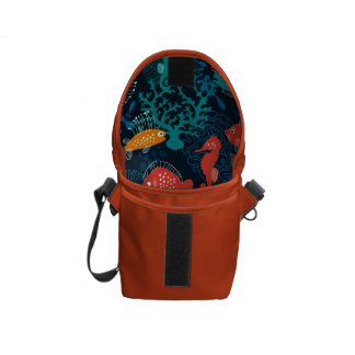 Colorful Fish in Ocean Courier Bag