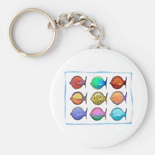 Colorful Fish Key Chain