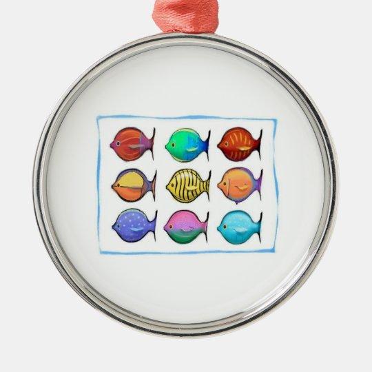 Colorful Fish Metal Ornament